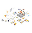 data storage and technology isometric vector image