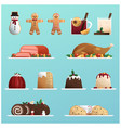 delicious christmas cuisine vector image