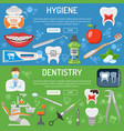 dental services banner and infographics vector image