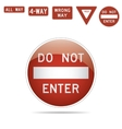 do not enter traffic signs vector image vector image