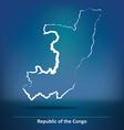 Doodle Map of Republic of Congo vector image vector image