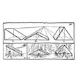 drawing house forms create three basic house vector image vector image