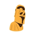 Easter island Moai statue isolated on white vector image vector image
