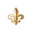 fleur de lis symbols golden glittering - heraldic vector image vector image
