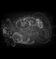 gear mechanism on black vector image vector image