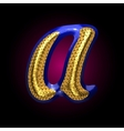 golden and blue letter a vector image vector image