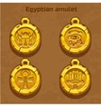 golden old egyptian amulet vector image