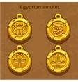 Golden old egyptian amulet