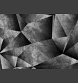 grey grunge 3d polygonal tech abstract background vector image vector image
