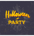 Halloween party invitation card grunge halloween vector image vector image