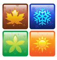 icons for four seasons vector image