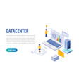 internet datacenter connection administrator of vector image vector image