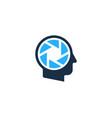 lens human head logo icon design vector image