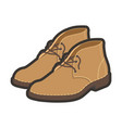 light brown high shoes vector image vector image