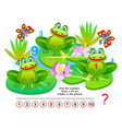 logic puzzle game exercise for young children vector image vector image