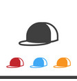 man hat icons image vector image
