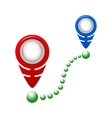 Map pointer flat icon Flat vector image vector image