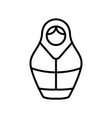 matreshka icon isolated contour symbol vector image vector image