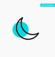 moon night sleep natural turquoise highlight vector image vector image
