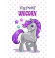 my pretty unicorn cute childish with vector image vector image