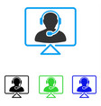 online support flat icon vector image vector image