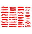 painted grunge stripes set red labels background vector image vector image
