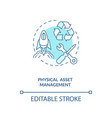 physical asset management concept icon