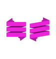 pink ribbons banners geometric festive wavy blank vector image vector image