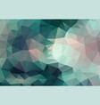 polygon background dark cyan and pink vector image vector image