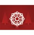 pop up christmas snowflake vector image vector image
