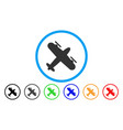 propeller aircraft rounded icon vector image