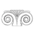 proto ionic capital discovered on the eastern vector image vector image