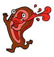 rare steak comic cartoon character vector image vector image