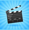 realistic cinema clapper movie making vector image