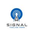 satellite signal tower modern logo vector image vector image