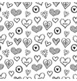 seamless hearts pattern-10 vector image