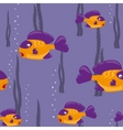 seamless pattern yellow fish vector image
