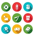 Set of Drug Overdose Icons Help Dose vector image vector image