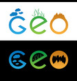 set of geo logo vector image vector image