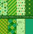 set st patricks day seamless pattern vector image
