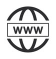 simple www icon vector image