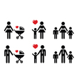 single parent sign - family icons vector image vector image