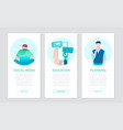 social media - set of flat design style colorful vector image