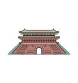 south korea old landmark pagoda sketch cartoon vector image vector image