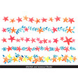 starfish and seaweed border watercolor for summer vector image