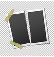 torn photo frame on transparent background vector image