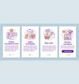 translation service process onboarding mobile app vector image vector image