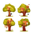 treehouse for kids or children home on tree vector image vector image