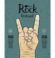 vintage rock festival poster vector image