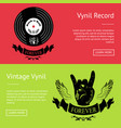vintage vinyl record set of posters with text vector image vector image